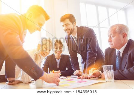 Business team work together planning strategy in cooperation