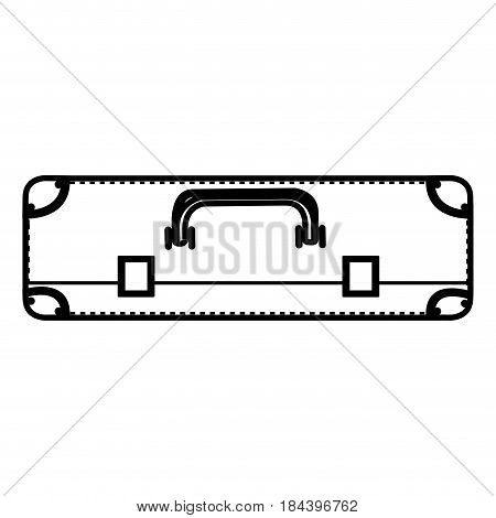 monochrome silhouette of suitcase in horizontal position vector illustration