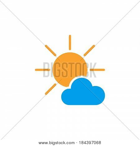 Mostly Sunny weather Icon isolated on white background .