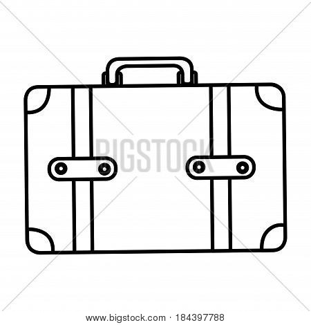monochrome silhouette of leather suitcase vector illustration