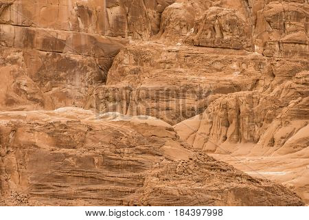 background stone wall texure of Sinai desrt