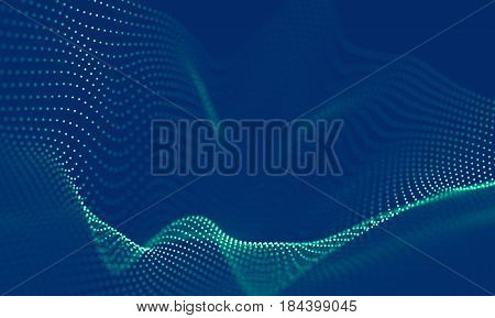 Abstract Blue Geometrical Background . Connection structure. Science background. Futuristic Technology HUD Element . Connecting dots and lines .