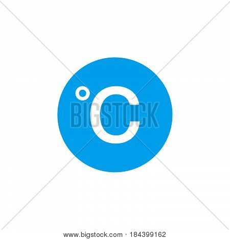 Degree sign celsius icon isolated on white background .