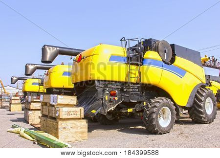 Combines And Tractors, Agricultural Machinery, Agricultural Machinery Maintenance .ukraine March 29,