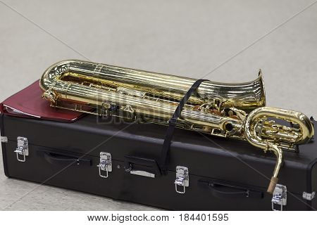 a Bari Saxophone almost ready for rehearsal