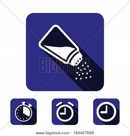 Salt icon  stock vector illustration flat design