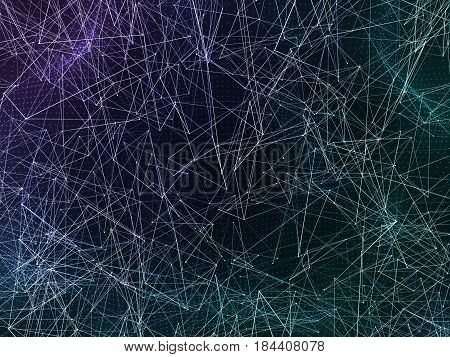 3d rendering abstract web bacground. Triangles background. Geometrical lines