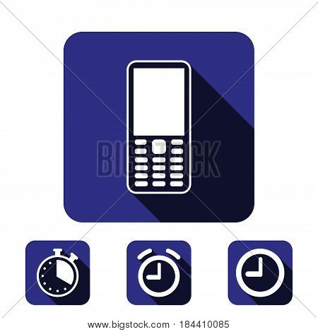 Mobile phone icon stock vector illustration flat design