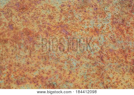 rusty and old background with empty area for support text. damage or antique surface from industry workshop. corrosion of steel surface by rusty and will be impact with structure of machine.