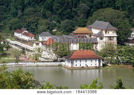 Kandy, Sri Lanka - 16 December 2004: The Royal Palace Complex of the former kingdom of Kandy Sri Lanka