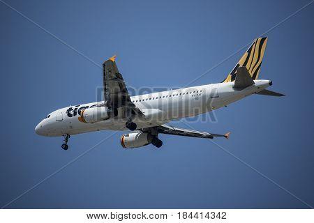 9V-taf Airbus A320-200 Of Tiger Air.