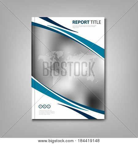 Brochures book or flyer with abstract stripes and world map vector eps 10