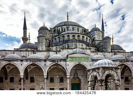 Istanbul, Turkey - May 1, 2017: Blue mosque Sultanahmet, Istanbul, Turkey