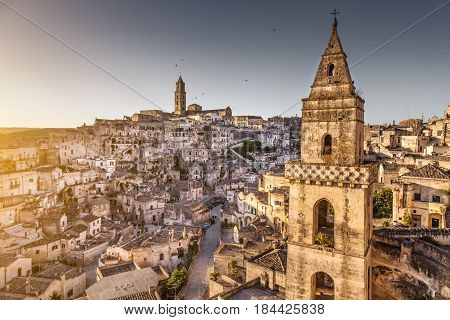 Ancient Town Of Matera (sassi Di Matera) In Beautiful Morning Light, Basilicata, Southern Italy