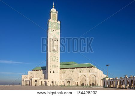 Casablanca, Morocco. Mosque Hassan II building architecture