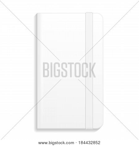 Notebook, Diary, Organizer. Corporate Identity And Branding Stationery Template. Illustration Isolated On White Background. Mock Up Template Ready For Your Design. Vector illustration