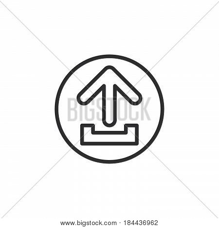 Upload circular line icon. Round simple sign. Flat style vector symbol