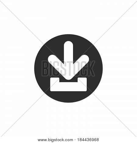 Download flat icon. Round simple button circular vector sign. Flat style design