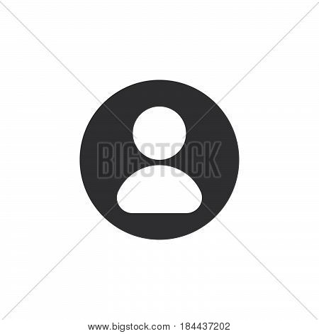 User account flat icon. Round simple button circular vector sign. Flat style design