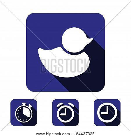 duck icon stock vector illustration flat design