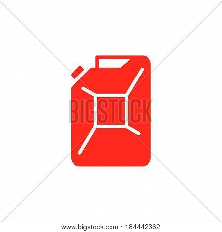 Petrol jerrycan icon vector filled flat sign solid colorful pictogram isolated on white. Symbol logo illustration