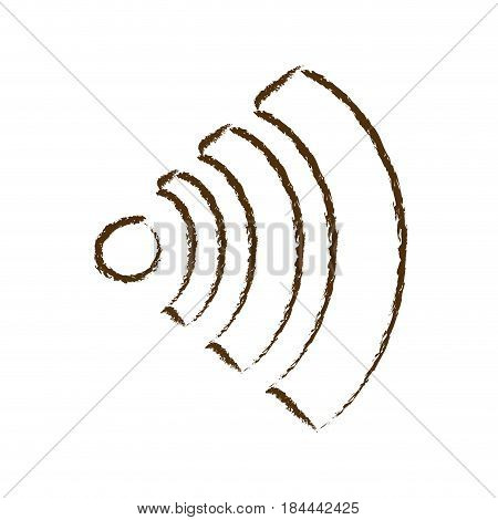 monochrome hand drawn silhouette of wifi signal icon vector illustration