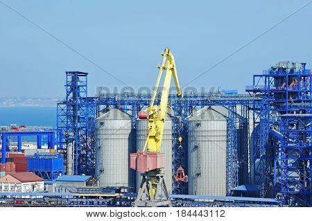 Cargo Crane And Grain Dryer