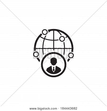 Business Representative Icon. Flat Design. Isolated Illustration