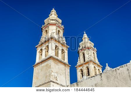 Campeche Cathedral Spires