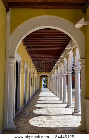 Arches In Campeche, Mexico