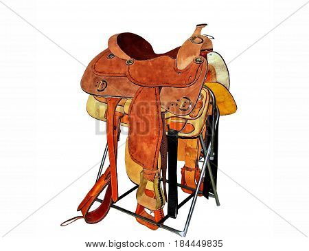 Western saddles are used for western riding and are the saddles used on working horses on cattle ranches throughout the United States particularly in the west. They are the