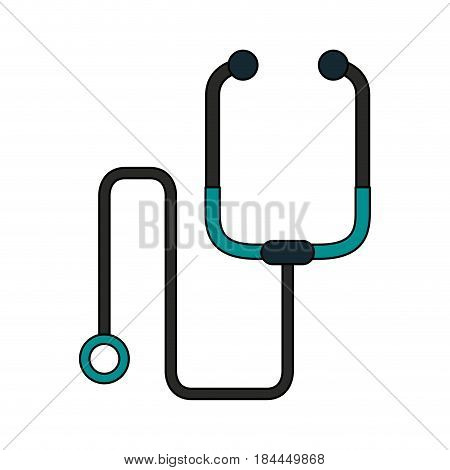 color image cartoon stethoscope medical with auriculars vector illustration