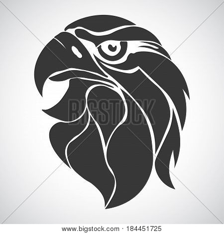 Eagle head logo Template, Hawk mascot graphic, Portrait of a bald eagle. Vector