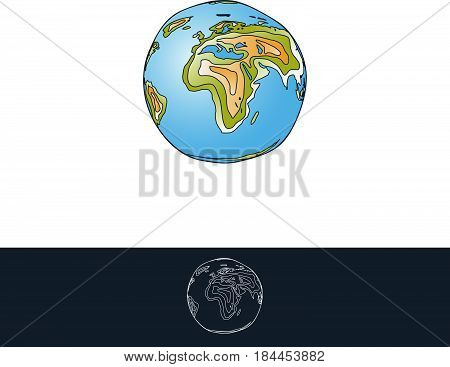 Earth Layered Illustration For Logo and Other Designs