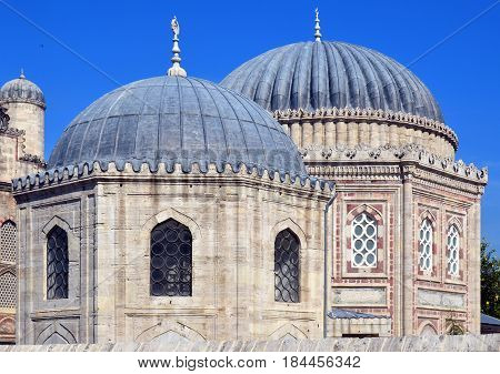 ISTANBUL TURKEY SEPT 27:The Sehzade Mosque or Prince's Mosque or Sehzade Camii is an Ottoman imperial mosque located in the district of Fatih, Turkey. On sept, 27 2013 in Istanbul Turkey.