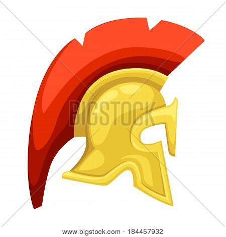 Ancient Helmet Spartan Helmet Isolated Illustration Greek Warrior Versus Trojan Soldier