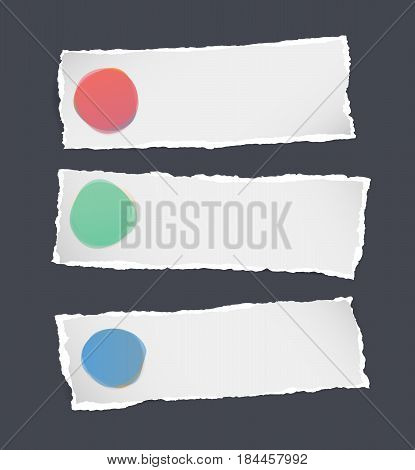 Ripped white paper label with colorful watercolor blobs on black background.