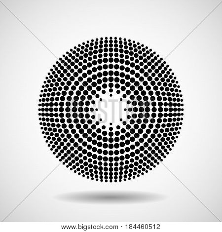 Abstract dotted circles. Dots in circular form. Vector design element