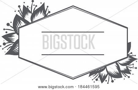 Illustration of Floral Lilly Frame With Copyspace