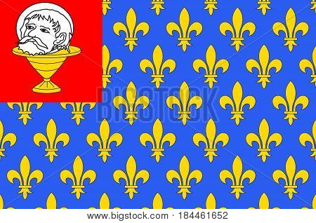 Flag of Saint-Jean-d'Angely is a commune in the Charente-Maritime department in southwestern France.