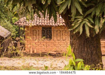 Adobe House In Brazil