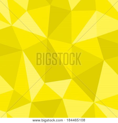 Abstract seamless light and dark yellow triangles pattern for background. Geometric layout for printing magazine cover, advertise presentation, flyer. Template polygon backdrop for poster page.