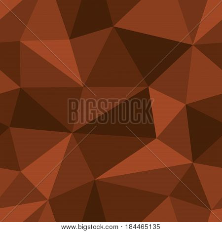 Abstract seamless light and dark brown triangles pattern for background. Geometric layout for printing magazine cover, advertise presentation, flyer. Template polygon backdrop for poster page.