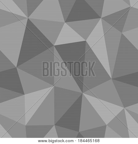 Abstract seamless light and dark grey triangles pattern for background. Geometric layout for printing magazine cover, advertise presentation, flyer. Template polygon backdrop for poster page.