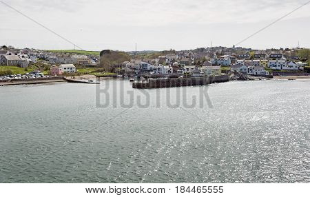 Cemaes Bay harbour and town in Anglesey North Wales