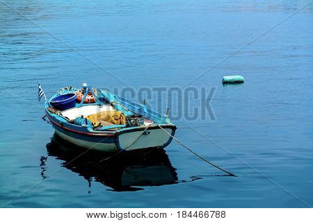 Wooden Boat In The Sea