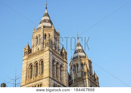 Natural History Museum of London detail , United Kingdom .