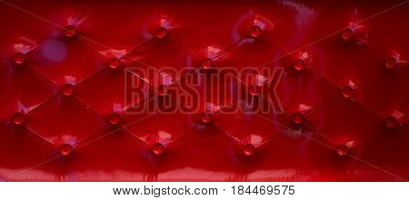 Red Leather Upholstery Elegant Background pattern texture