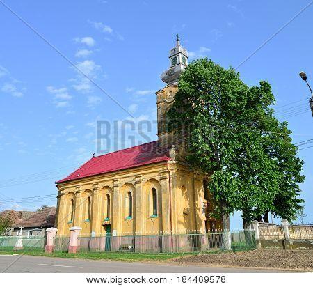 lunga village romania old church landmark architecture