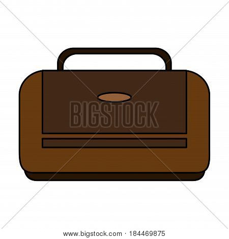 color image executive bag with handle vector illustration